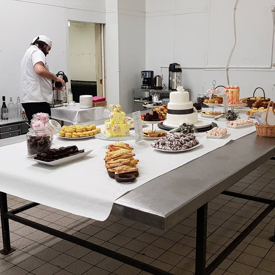 A full afternoon tea spread by For Cakes Sake.