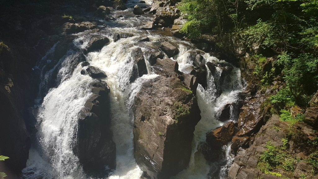 The Black Linn Falls, taken from above.